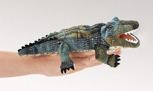 Folkmanis Stuffed Plush Mini Alligator Hand Puppet