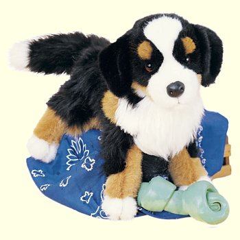 Stuffed Plush Bernese Mountain Dog