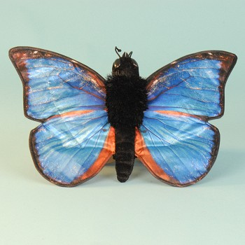 Sunny & Co. Stuffed Blue Morpho Butterfly Hand Puppet
