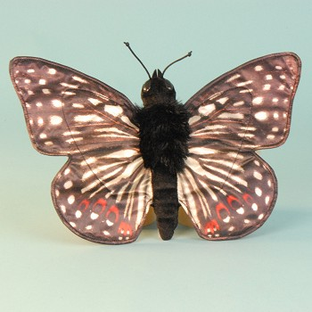 Sunny & Co. Stuffed Checkerspot Butterfly Hand Puppet
