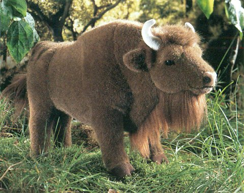 Kosen Plush European Bison Stuffed Animal