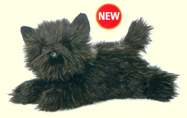 "Aurora ""Toto"" Lifelike Stuffed Plush Black Cairn Terrier"