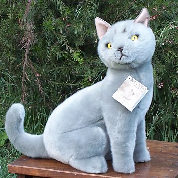 Bocchetta Greyson Stuffed Plush Russian Blue Cat