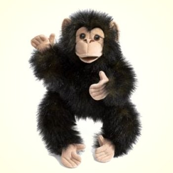 Folkmanis Plush Baby Chimp Hand Puppet