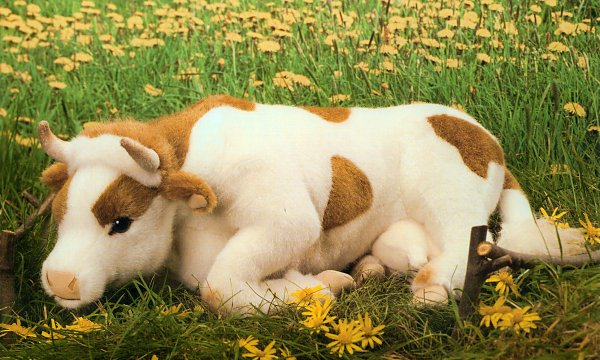 Kosen Stuffed Plush Lying Cow