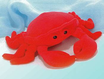 Aurora Stuffed Plush Crab