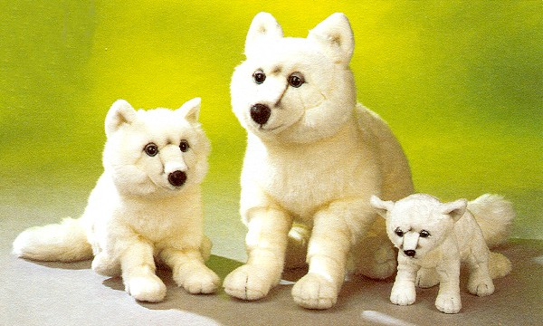 Stuffed Plush Arctic Foxes from Stuffed Ark