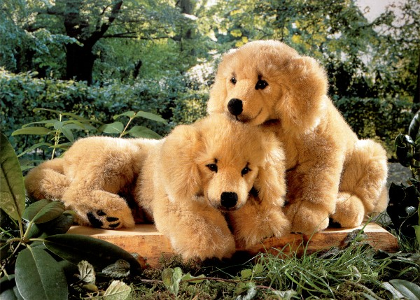 Kosen Stuffed Plush Golden Retriever Puppies