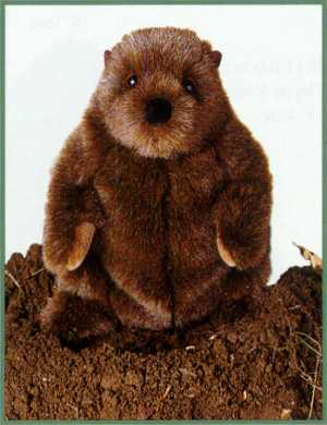 """Chuckwood"" Stuffed Plush Groundhog"