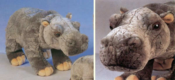 SOS Stuffed Plush Hippo