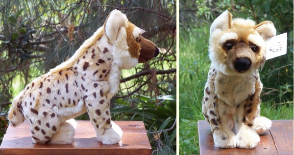 Large Leosco SOS Stuffed Plush Hyena