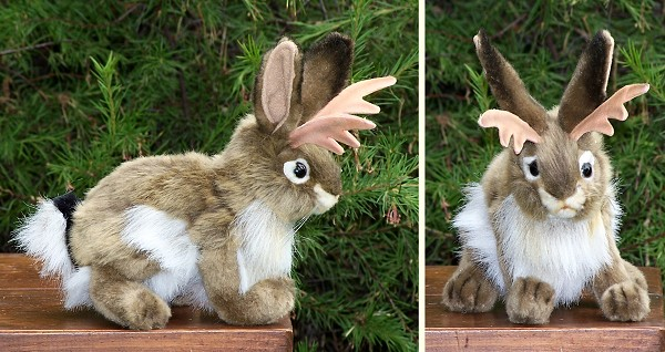 Hansa Stuffed Plush Jackalope