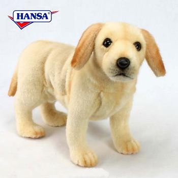 Plush Standing Yellow Labrador Puppy Stuffed Animal