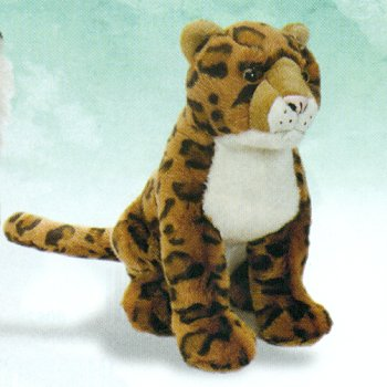 Wild Republic Sitting Plush Leopard Stuffed Animal