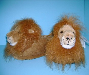 Plush Lion Slippers