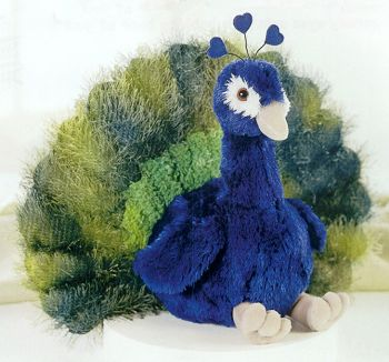 Aurora Plush Stuffed Peacock