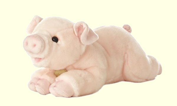 Aurora Miyoni Plush Pink Pig Stuffed Animal
