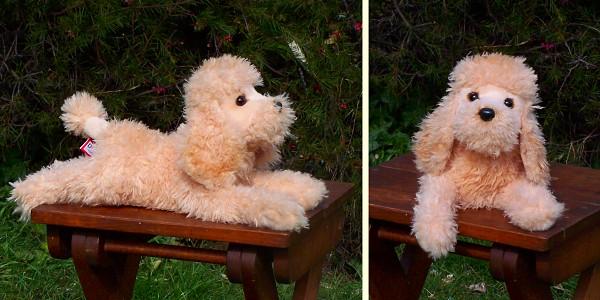 Plush Apricot Poodle Stuffed Animal