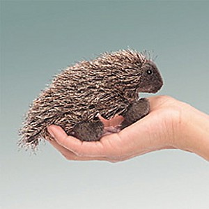 Folkmanis Stuffed Plush Mini Porcupine Finger Puppet