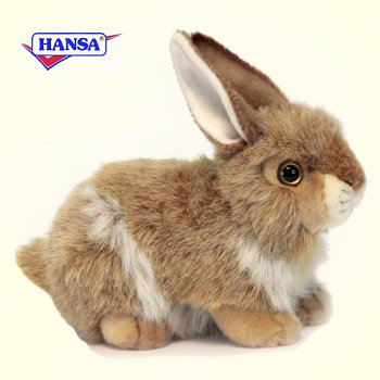 Hansa Stuffed Plush Baby Brown Rabbit