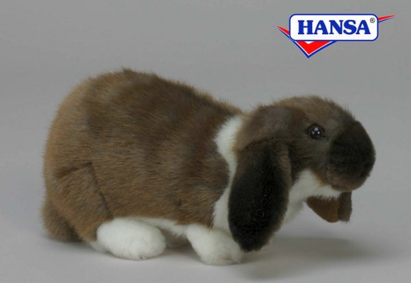 Hansa Stuffed Plush German Lop Eared Rabbit