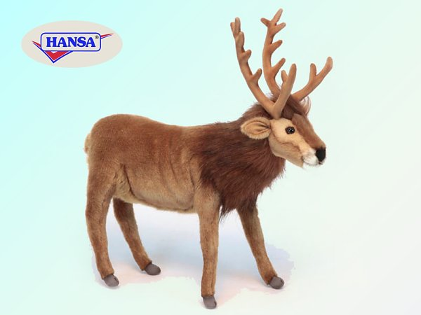 Hansa Brown Reindeer Stuffed Animal
