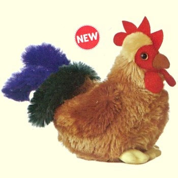 Aurora Cocky Stuffed Plush Rooster