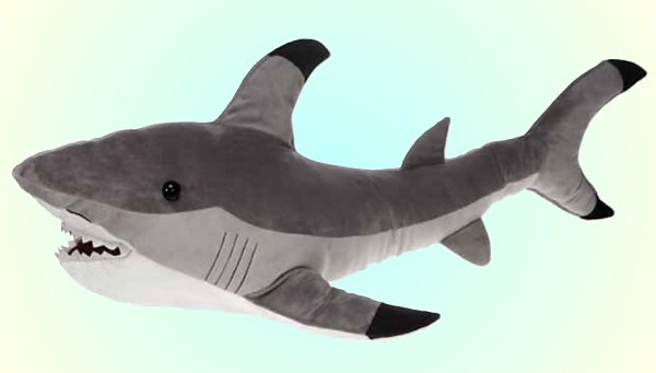Fiesta Plush Gray Shark