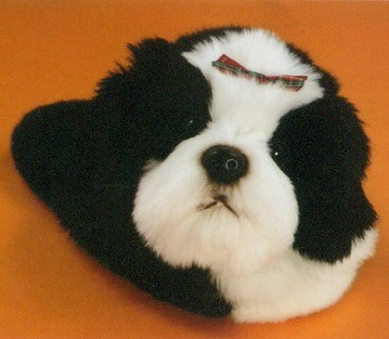 Stuffed Plush Shih Tzu Slipper