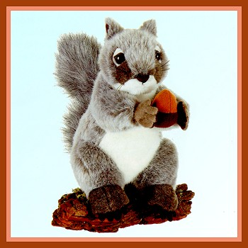 Fiesta Stuffed Plush Gray Squirrel