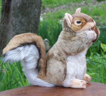 Hansa Stuffed Plush Red Squirrel