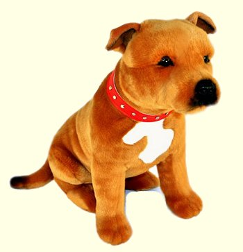 Bocchetta Lester Brown Sitting Staffordshire Terrier