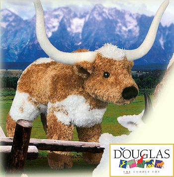 Douglas T-Bone Plush Longhorn Steer