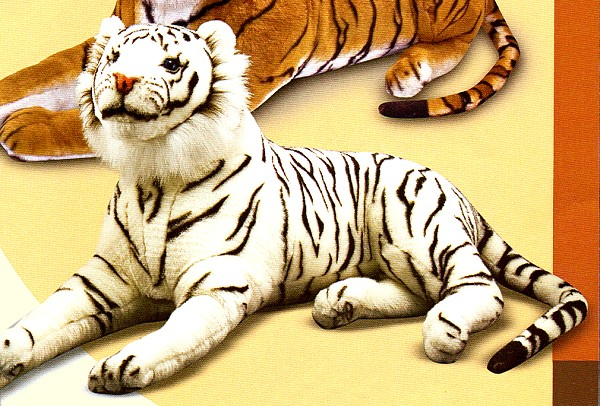 Melissa and Doug 47 Inch Lifelike Stuffed Plush White Tiger