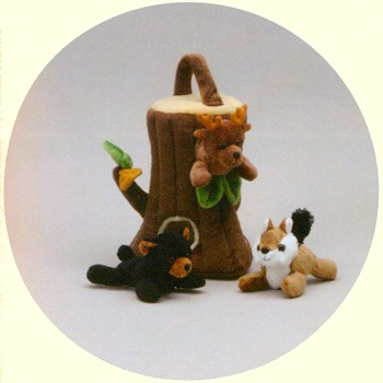 Plush Tree Carrier with Finger Puppets