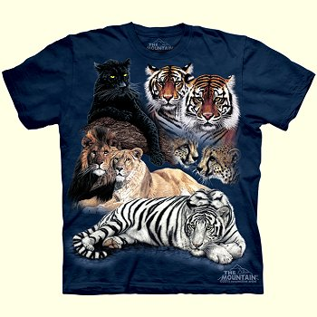 Big Cat Collage T-Shirt from The Mountain