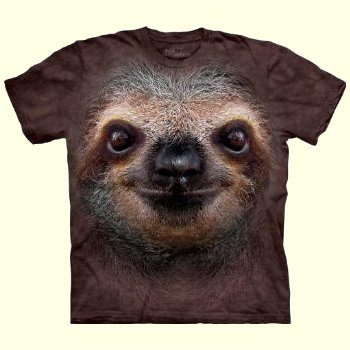 Sloth Face T-Shirt from The Mountain