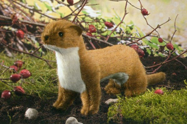Kosen European Plush Least Weasel Made in Germany