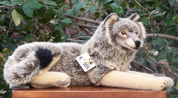 Kosen European Plush Lying Wolf Made in Germany