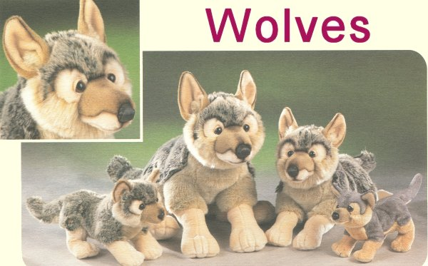 Stuffed Plush Wolves from Stuffed Ark